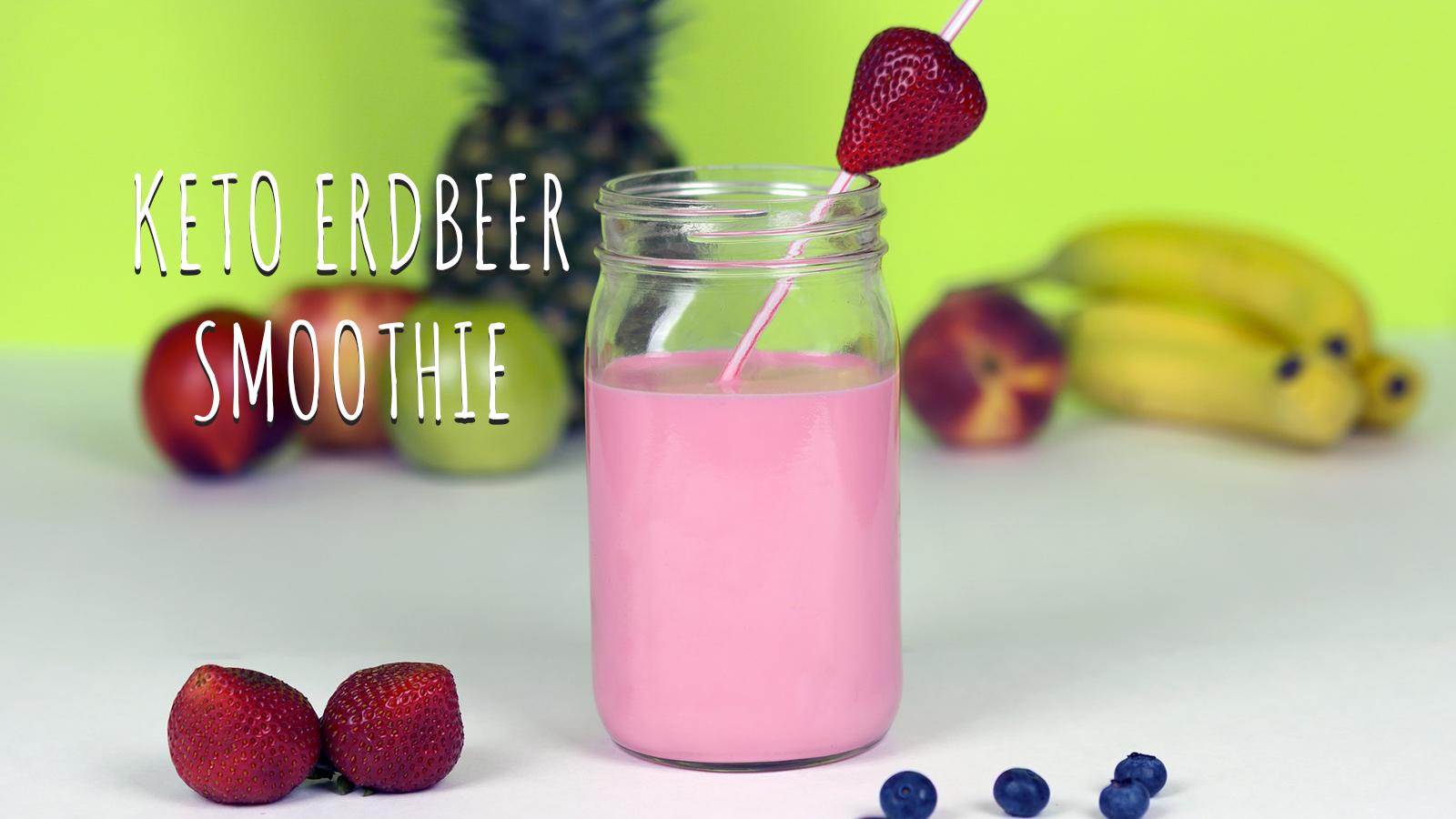 Keto-Erdbeer-Smoothie