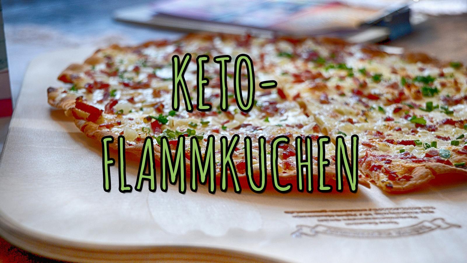 Keto-Flammkuchen mit Speck